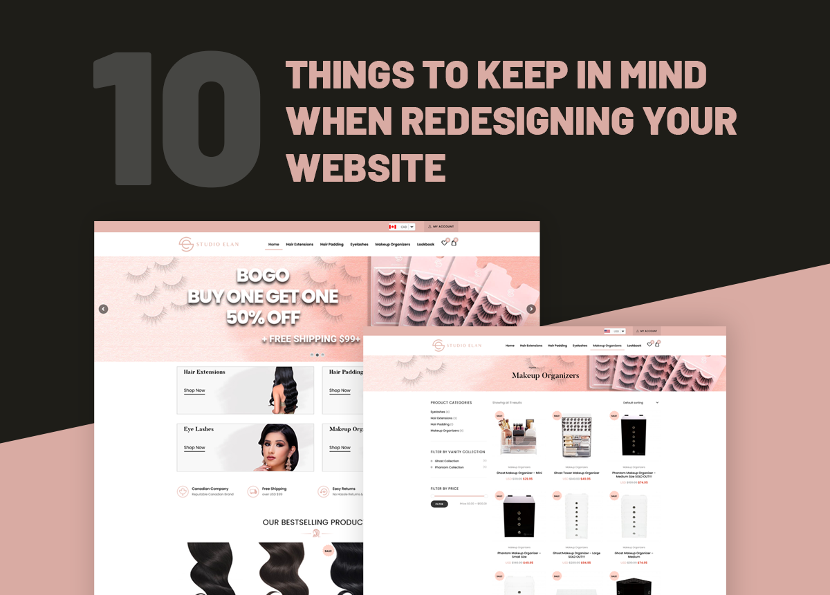 10 things to keep in mind redesigning website
